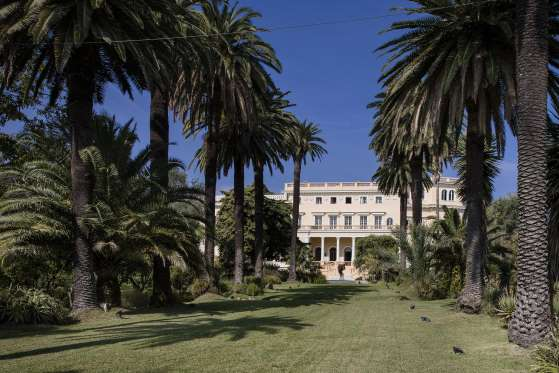 palm trees line the lawn avenue in the private gardens leading to the villa les cedres a 187 year old 18000 square foot 14 bedroom mansion set on 35 - Most Expensive Tree House In The World
